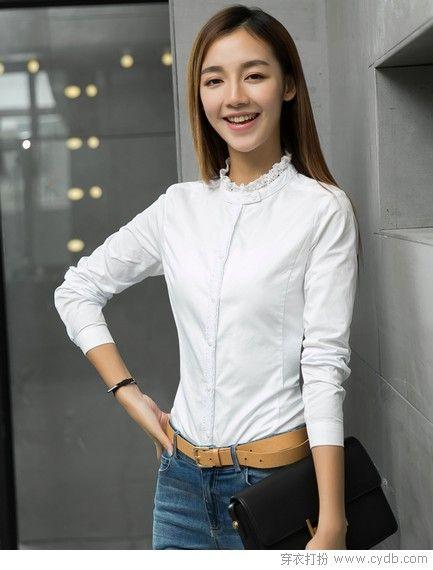 清新写意白衬衫